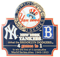 1949 World Series Commemorative Pin - Yankees vs. Dodgers