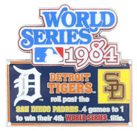 1984 World Series Commemorative Pin - Tigers vs. Padres