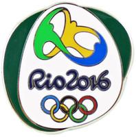 Rio de Janeiro 2016 Olympics Logo Pin - Green