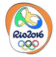 Rio de Janeiro 2016 Olympics Logo Pin - Orange