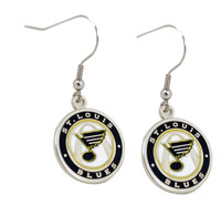 St. Louis Blues Round Logo Earrings