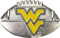 West Virginia 3-D Football Pin
