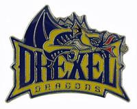 Drexel Dragons Logo Pin