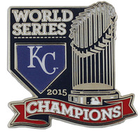 Kansas City Royals 2015 World Series Champions Trophy Pin - 2