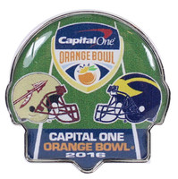 2016 Orange Bowl Pin - Florida State vs. Michigan