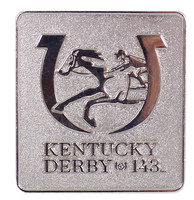 2017 Kentucky Derby (143rd) Silver Logo Pin