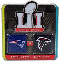 Super Bowl LI (51) Patriots vs. Falcons Dueling Pin