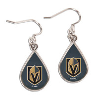 Vegas Golden Knights Tear Drop Earrings