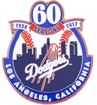 Dodgers 60th Anniversary In Los Angeles Commemorative Pin - Limited 1,000