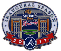 Atlanta Braves Suntrust Park 2017 Inaugural Season Pin - Limited 1,000
