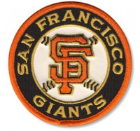 "San Francisco Giants Embroidered Emblem Patch 4"" - Round"
