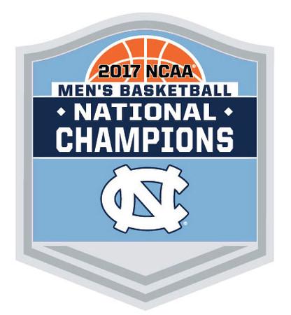 North Carolina 2017 Men's Final Four Champions Trophy Pin