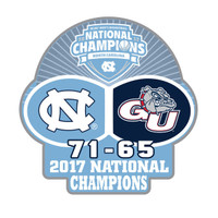 North Carolina 2017 Men's Final Four Champs Pin w/ Score