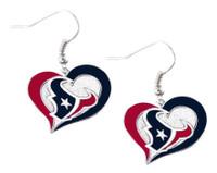 Houston Texans Swirl Heart Earrings