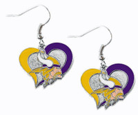 Minnesota Vikings Swirl Heart Earrings
