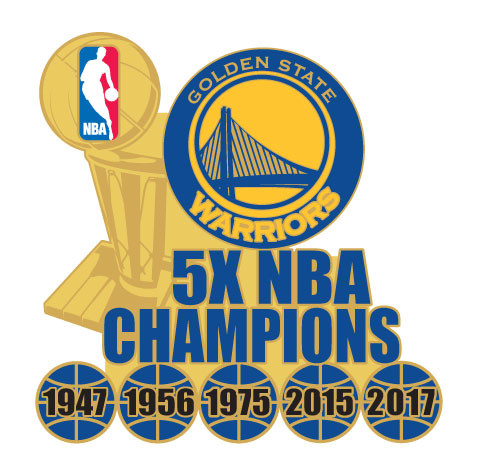 734e4971c Golden State Warriors 5-Time NBA Champions Pin. Loading zoom