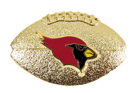 Arizona Cardinals Sculptured Football Pin