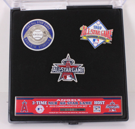 2010 MLB All-Star Game Angels Host Years Pin Set - Limited 5,000