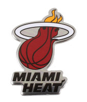 Miami Heat Logo Pin - Silver Metal