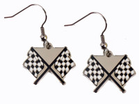 NASCAR Checkered Flag Earrings