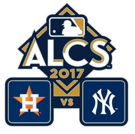 2017 ALCS Match Up Pin - Astros vs. Yankees