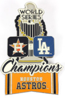 Houston Astros 2017 World Series Champions Oversized Trophy Pin - 3""