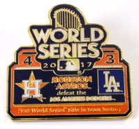 2017 World Series Commemorative Pin - Astros vs. Dodgers