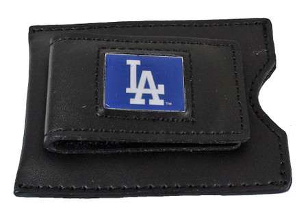 Los Angeles Dodgers Leather Money Clip & Credit Card Holder