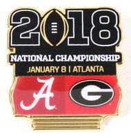 2018 College Football National Championship Dueling Pin - Alabama vs. Georgia