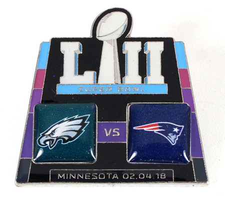 Super Bowl LII 52 Eagles vs. Patriots Pin
