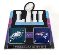 Super Bowl LII 52 Eagles vs. Patriots Pin