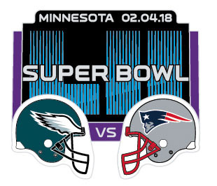Super Bowl LII (52) Eagles vs. Patriots Dueling Pin