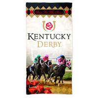 "2018 Kentucky Derby 144 Beach Towel - 30"" x 60"""
