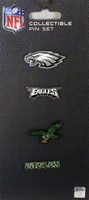 Philadelphia Eagles Evolution Pin Set