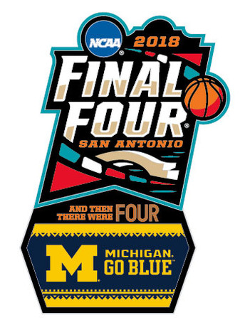 Michigan Wolverines 2018 Men's Final Four Pin