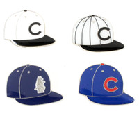 Chicago Cubs Cooperstown Collection Cap Pin Set