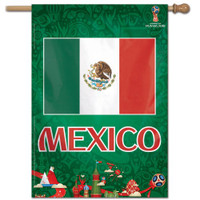 "Mexico 2018 World Cup Vertical Flag - 28""x40"""