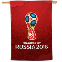 "2018 World Cup Vertical Flag - 28""x40"""