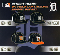 Detroit Tigers Cooperstown Collection Timeline Cap Pin Set