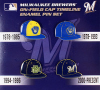 Milwaukee Brewers Collection Cap Timeline Pin Set