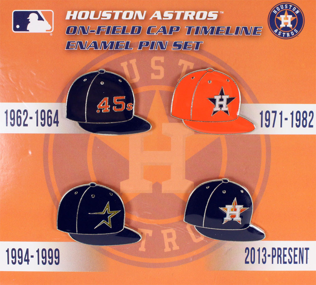 quality design 8572b dab9a Houston Astros Collection Cap Timeline Pin Set. Loading zoom