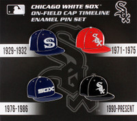 Chicago White Sox Cooperstown Collection Cap Timeline Pin Set