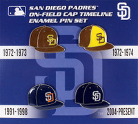 San Diego Padres Cooperstown Collection Cap Timeline Pin Set