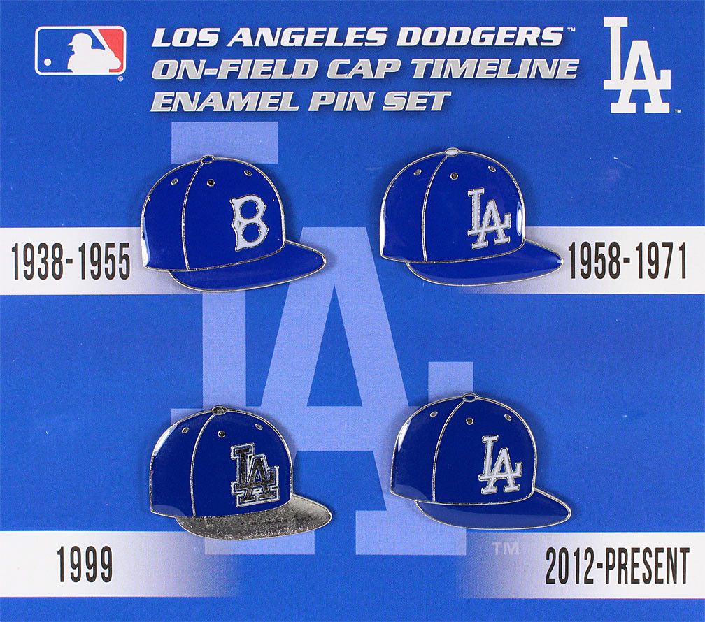 e476c5addeb Los Angeles Dodgers Cooperstown Collection Cap Timeline Pin Set. Loading  zoom