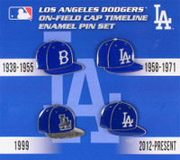 Los Angeles Dodgers Cooperstown Collection Cap Timeline Pin Set