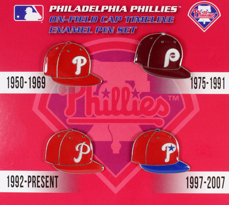 Philadelphia Phillies Cooperstown Collection Cap Timeline Pin Set
