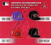 Arizona Diamondbacks Cooperstown Collection Cap Timeline Pin Set