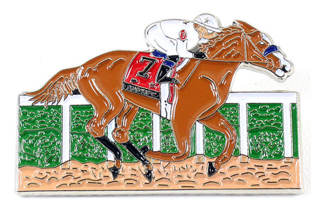 """Justify 2018 144th Kentucky Derby Pin - From """"Justify"""" Painting"""