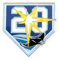 Tampa Bay Rays 20th Anniversary Pin