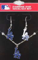 Los Angeles Dodgers Earrings & Necklace Combo